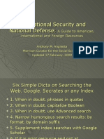 International Security and National Defense 17 Feb 2009