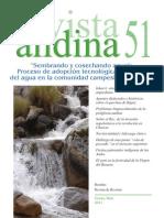 Revista Andina (Cusco), n. 51 (2011) - Tabla de Contenidos