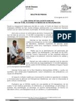 02/08/13 Germán Tenorio Vasconcelos OTORGA CESSA DE SAN JACINTO AMILPAS MÁS DE 18 MIL ACCIONES A OCHO MESES DE SU INAUGURACIÓN