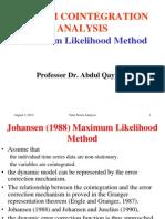 Johansen ML Method