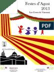 Programa de mà de les Festes d'Agost 2013