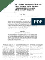 Ekobiologi Dan Optimalisasi Pengendalian Penyakit Virus Belang Pada Kacang Tanah Melalui Pengelol