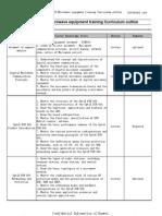 OptiX RTN 600 Microwave Equipment Training Curriculum Outline
