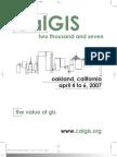 CALGIS 2007 Printed Program