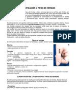 CLASIFICACIÓN Y TIPOS DE HERIDAS