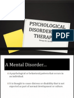 Psychological Disorders and Therapies - Group 10 (1A - PH)