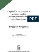 La gestión de proyectos socioculturales