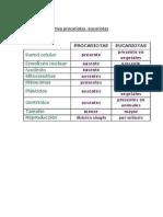 Cuadro Comparativo Procariotas