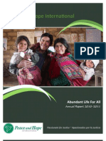 Peace and Hope International Annual Report 2011