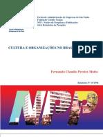 Cultura e Organizações no Brasil