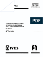 COVENIN 1477-01 electrodos