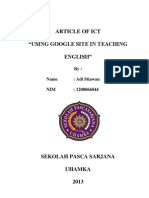 Article of ICT