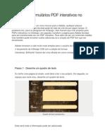 Criação de formulários PDF interativos no InDesign CS6