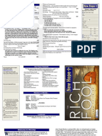 August 4, 2013 Worship Bulletin