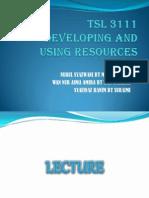 TSL 3111 - English course