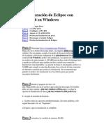 Configuración de Eclipse con Java 1