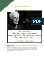 """""""El Mundo Según Alejandro Jodorowsky"""", Por Klaus Biesenbach"""