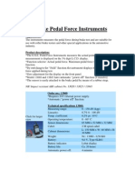 Brake Pedal Force Instruments