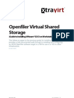 Openfiler Virtual Shared Storage