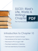 Chapter 10 - First Homecoming (Rizal's Life, Works and Writings