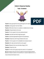 Children's Response Reading Goodness