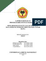 laporan kemajuan PKM - P 2013