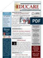 Newsletter Educare nº 14-Agosto