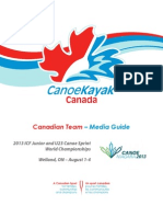 Media Guide - CanoeKayak Canada Jr-U23 Worlds