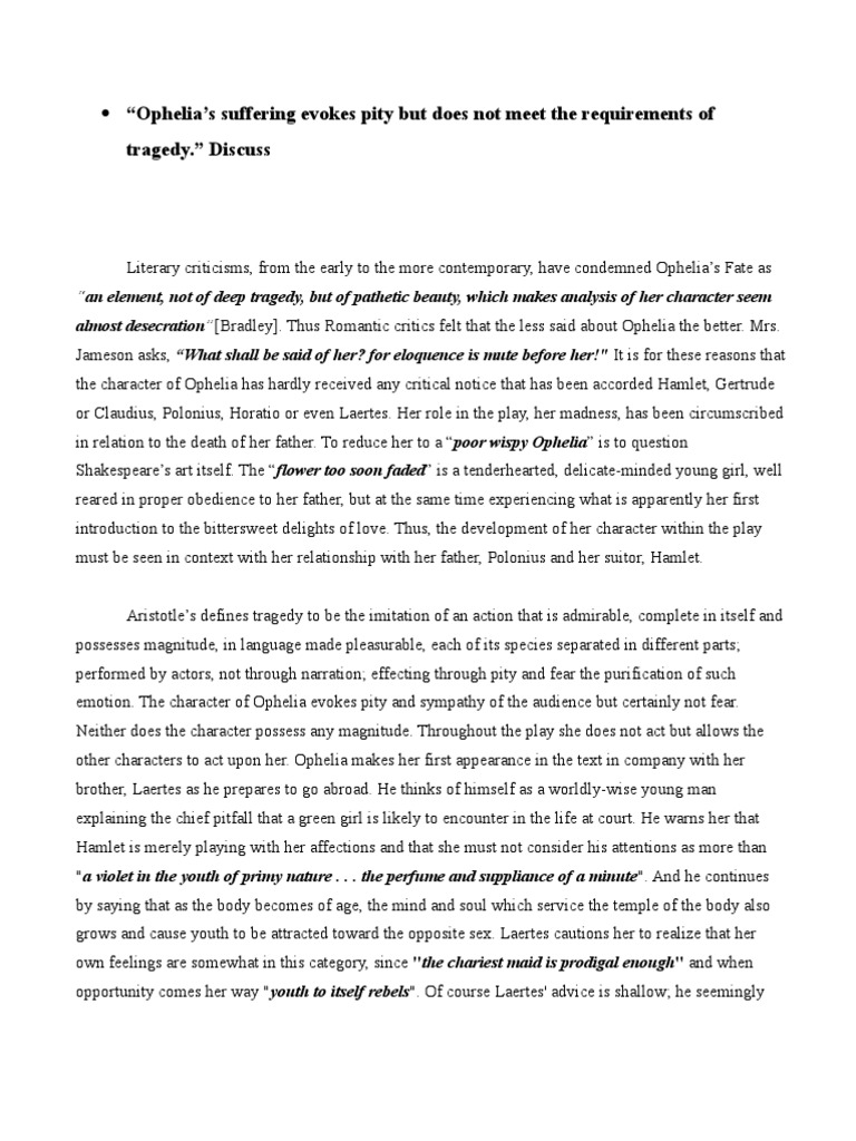 character analysis essay ophelia Get free homework help on william shakespeare's hamlet: play summary, scene summary and analysis and original text, quotes, essays, character analysis, and.