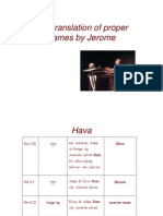 6. the Translation of Proper Names by Jerome