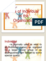 Role of Individual in the Organization