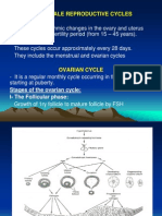 Ovarian Cycle & Menestrual Cycle
