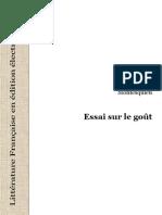 3681472 Montesquieu Essai Sur Le Gout