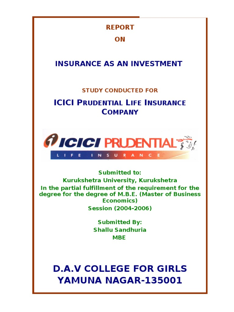 Icici Prudential Life Insurance Company Life Insurance Insurance