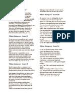 Sonnet Shakespeare
