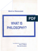 Heidegger What is Philosophy