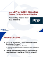 CR-LDP for ASON Signalling