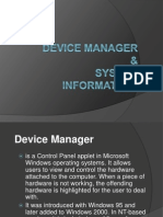 Device Manager & System Information