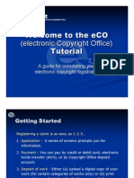 Eco Tutorial (electronic Copyright Office)