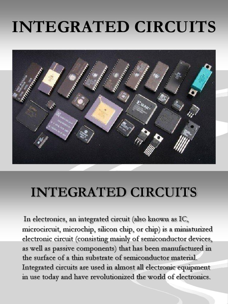 Ic Introductionppt Very Large Scale Integration Integrated Circuit Icintegrated Chip Component Electronic