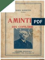 Radu Rosetti - Amintiri Din Copilarie1925