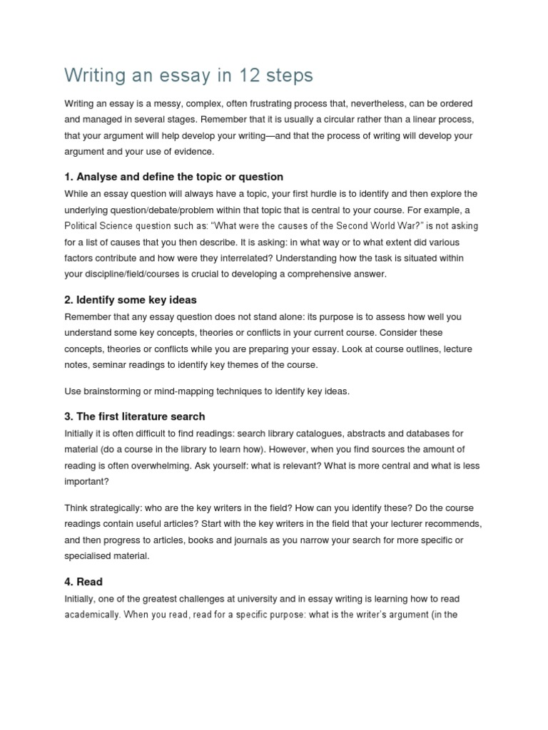 steps to writing an exploratory essay