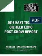 2013 ETOE Post Show Report