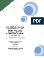 islamic finance and their financial growth verses their maqasid al-shariah