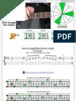 EDCAG4BASS E minor arpeggio box shapes