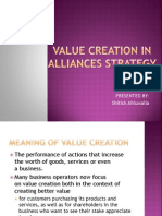 Value Creation In Strategic Allaince