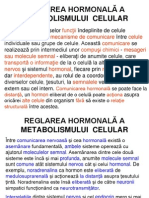 994REGLAREA HORMONALĂ A METABOLISMULUI  CELULAR