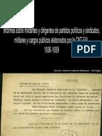 Informes elaborados por la CNT, 1936-1939