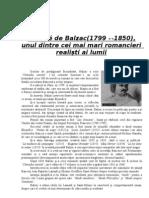 Balzac - Analiza