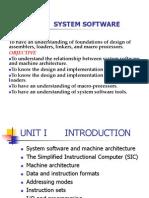 System Software - Unit I
